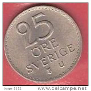 SWEDEN   # 25 ØRE KOBBERNIKKEL FROM YEAR 1964 - Suède