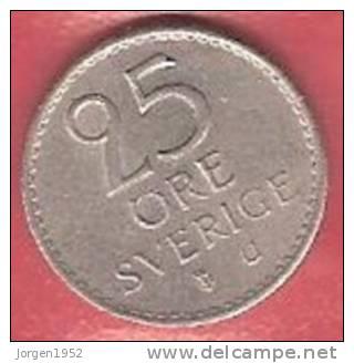 SWEDEN   # 25 ØRE KOBBERNIKKEL FROM YEAR 1967 - Suède