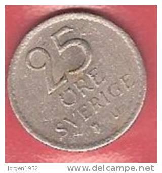 SWEDEN   # 25 ØRE KOBBERNIKKEL FROM YEAR 1968 - Suède