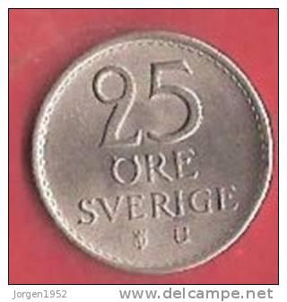 SWEDEN   # 25 ØRE KOBBERNIKKEL FROM YEAR 1973 - Suède