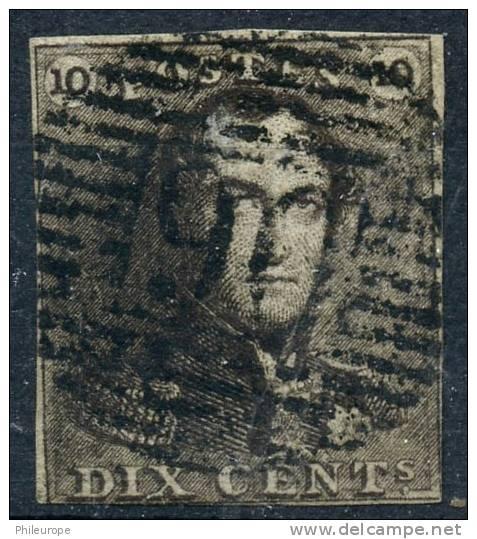 Belgique (1849) N 1 Obt 2ieme Choix - 1849 Epaulettes
