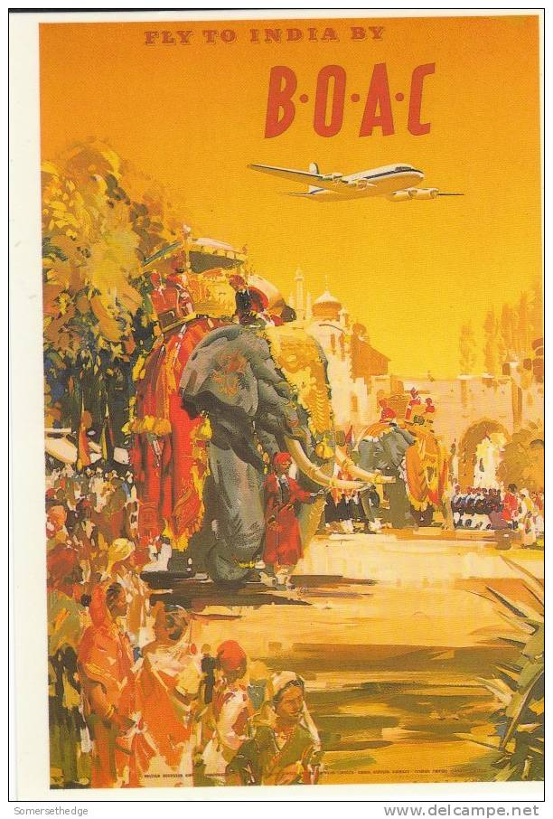 ADVERTISING CARD FOR BOAC 1950 (A22680) REPRO - 1946-....: Ere Moderne