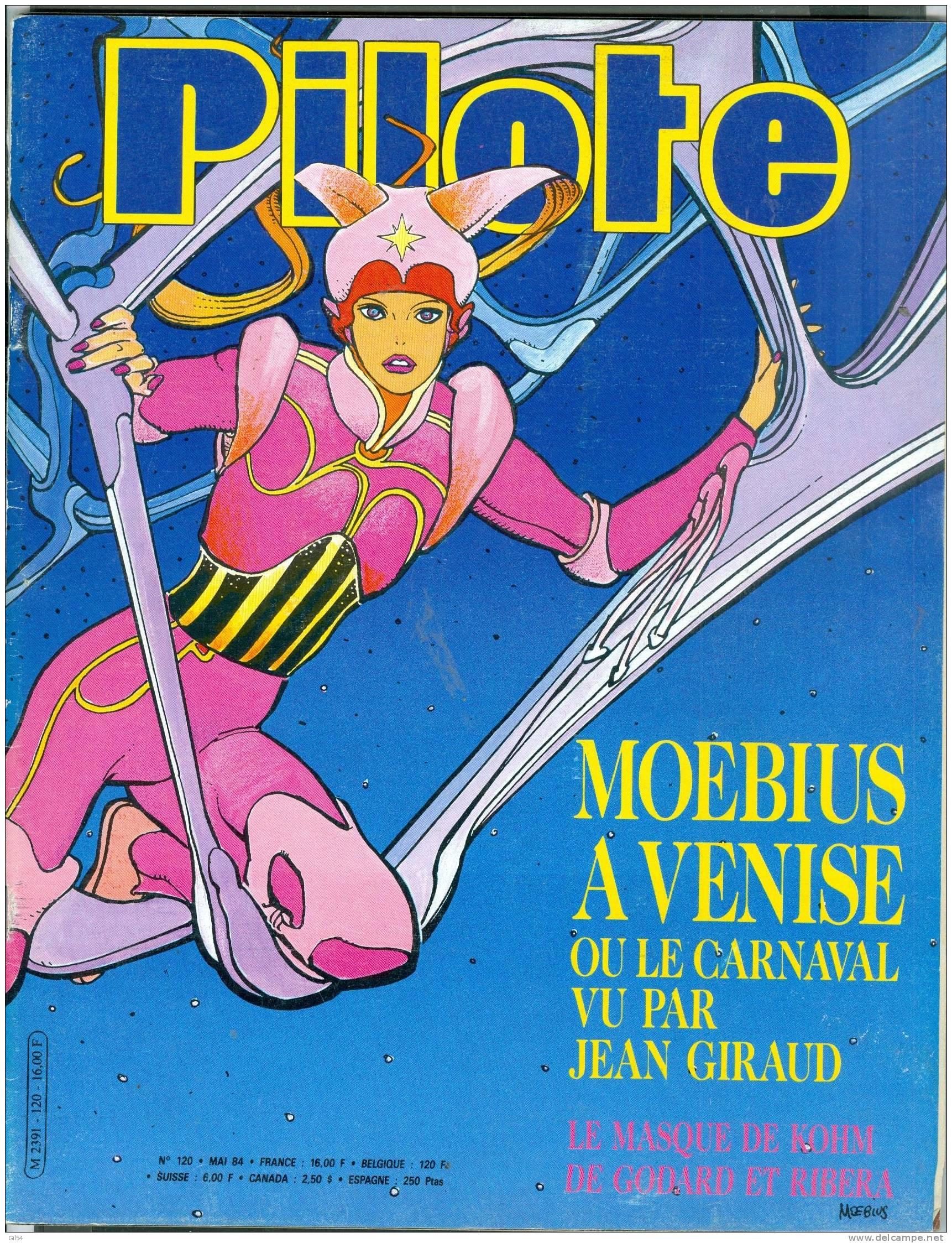 Pilote Mensuel , N°120  -   Mai  1984 - Pilote 01 - Pilote