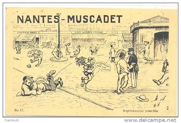 44 // NANTES  MUSCADET -  Dessin Humoristique  N° 17 - Nantes