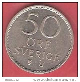 SWEDEN # 50 ØRE KOBBERNIKKEL FROM YEAR 1973 - Suède