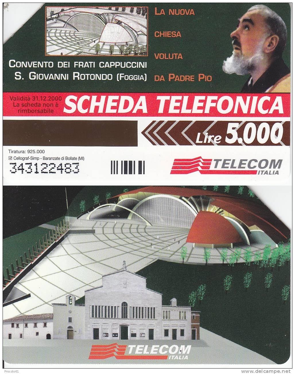 GOLDEN 873 SAN GIOVANNI ROTONDO PADRE PIO Us. Tir. 925.000 - Pubbliche Pubblicitarie