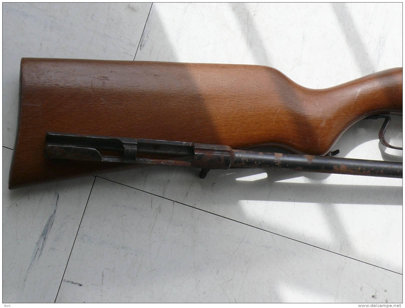 .carabine 9mm Canon +crosse  Sans Culasse - Armes Neutralisées