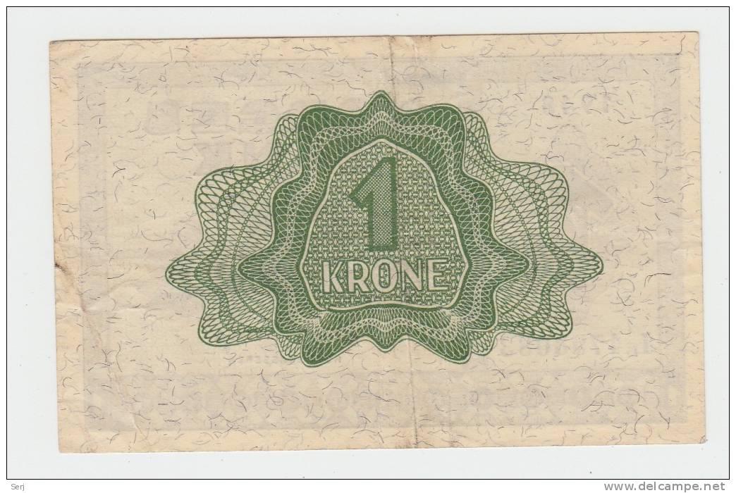 Norway 1 Krone 1948 VF++ CRISP RARE Banknote P 15b 15 B - Norvegia