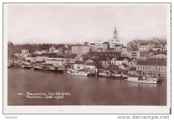 BELGRADE 132 CARTE PHOTO VUE GENERALE (PANORAMIQUE) - Serbie