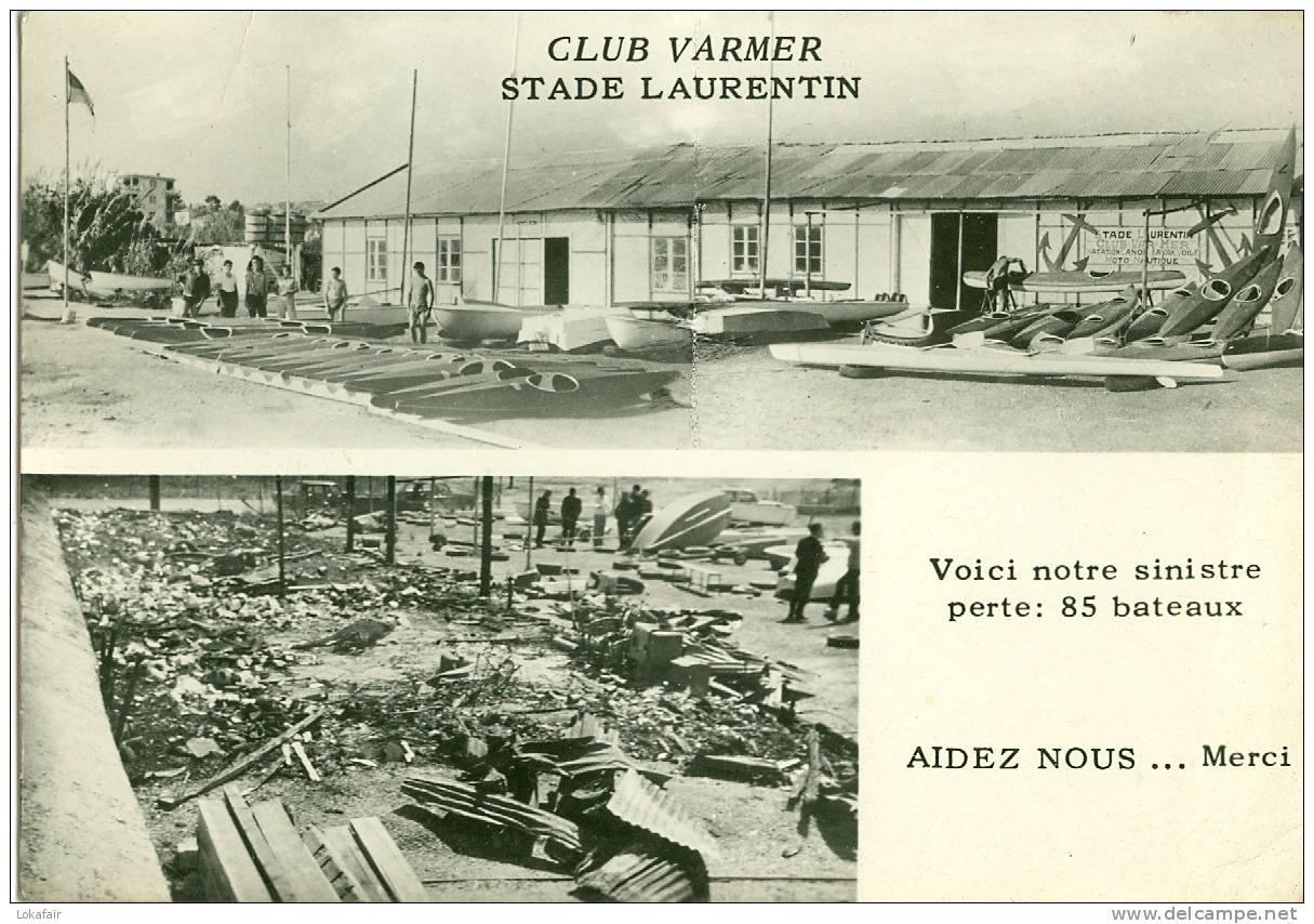 06 - Saint Laurent Du Var - Club  VARMER - Stade Laurentin - Voici Notre Sinistre, Perte De 85 Bateaux - Saint-Laurent-du-Var