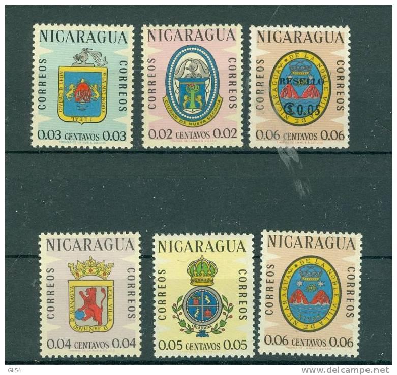 6 Timbres  Neufs Nicaragua   - Ah0106 - Nicaragua