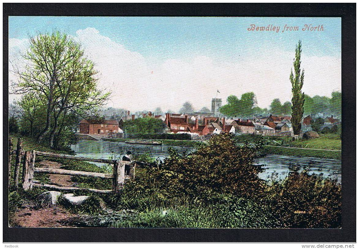 RB 744 - Early Postcard Bewdley From North - River Severn Worcestershire - Worcestershire