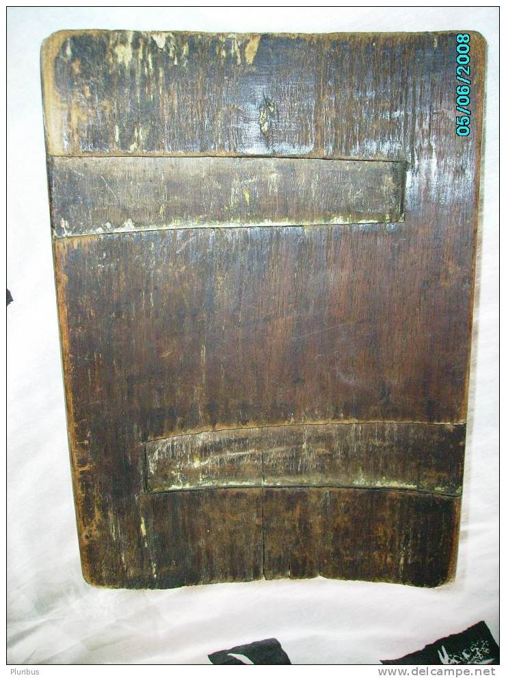 RUSSIA, VERY OLD Orthodox WOODEN ICON - Other Collections