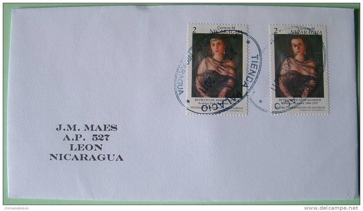 Nicaragua 2011 Cover Managua To Leon - Modern Paintings Penialba - Woman Mimi Hammer - Nicaragua