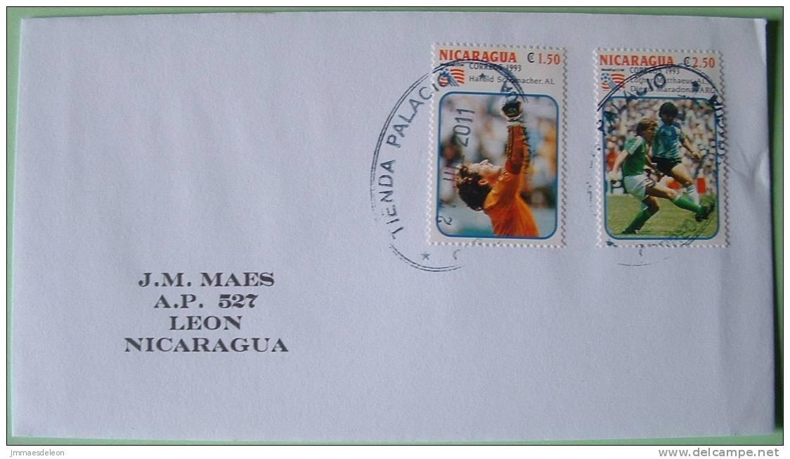Nicaragua 2011 Cover Managua To Leon - Football Soccer USA Germany Argentina Maradona Schumacher - Nicaragua