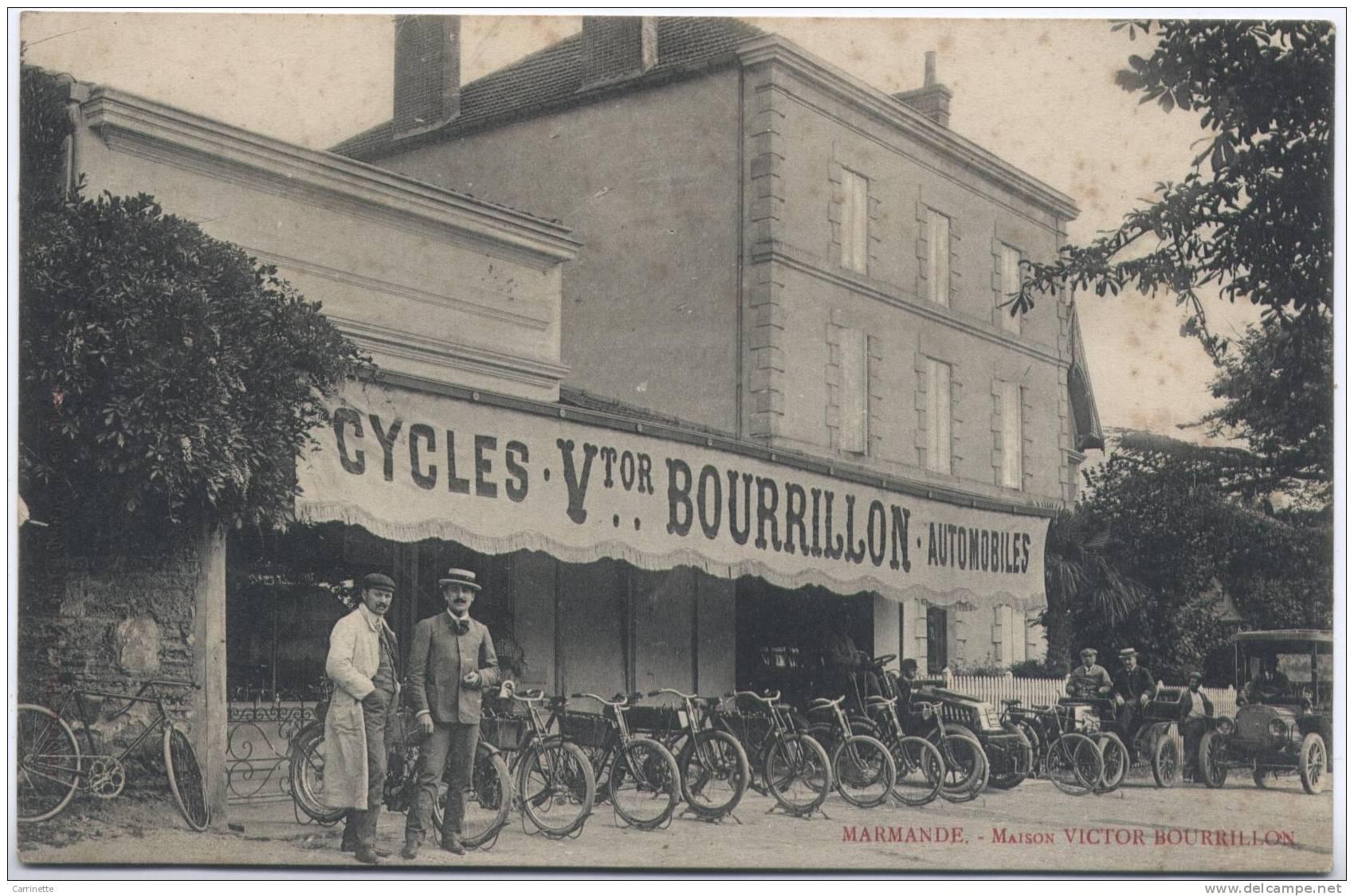 MARMANDE - 47 - Lot Et Garonne - Cycles Automobiles BOURRILLON - Marmande