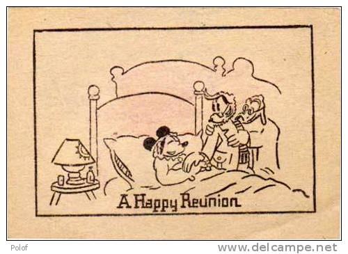 1 Image Recto - 1 Image Verso - Scenes De MICKEY - Bateau - Malade   (28072) - Walt Disney