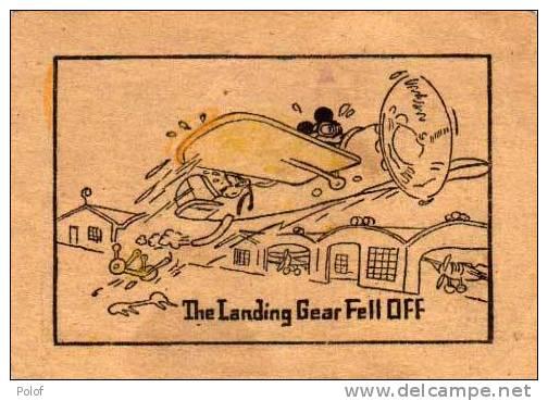 1 Image Recto - 1 Image Verso - Scenes De MICKEY - Avion - Bulletin    (28073) - Walt Disney