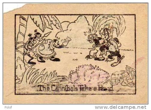 1 Image Recto - 1 Image Verso - Scenes De MICKEY -  Canibales - Bateau    (28075) - Walt Disney