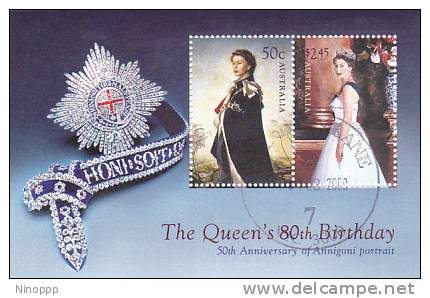 Australia-2006 Queen Birthday Used MS - 2000-09 Elizabeth II