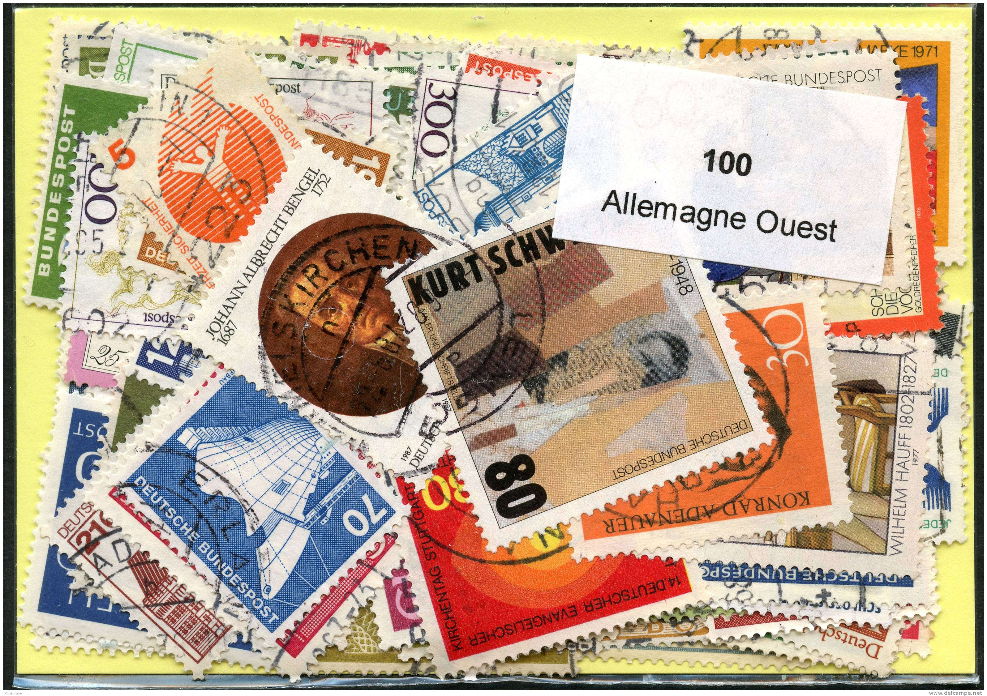 Lot 100 Timbres Allemagne Ouest - Timbres
