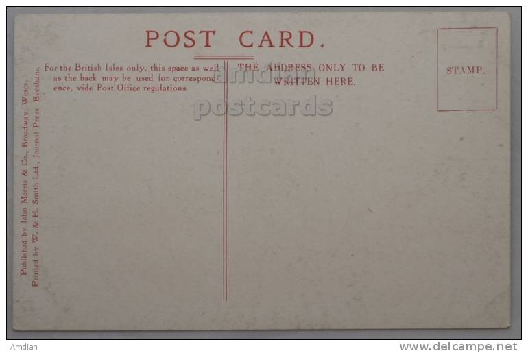 BROADWAY / UK Worcestershire Old Time Houses Vintage Postcard Ca 1910s   [p1515] - Worcestershire