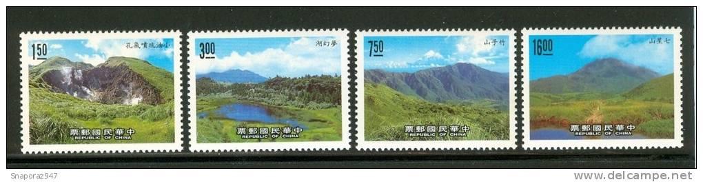 1988 Taiwan Paesaggi Landscapes Mic.1728/31 Set MNH** Tw32 - Géologie