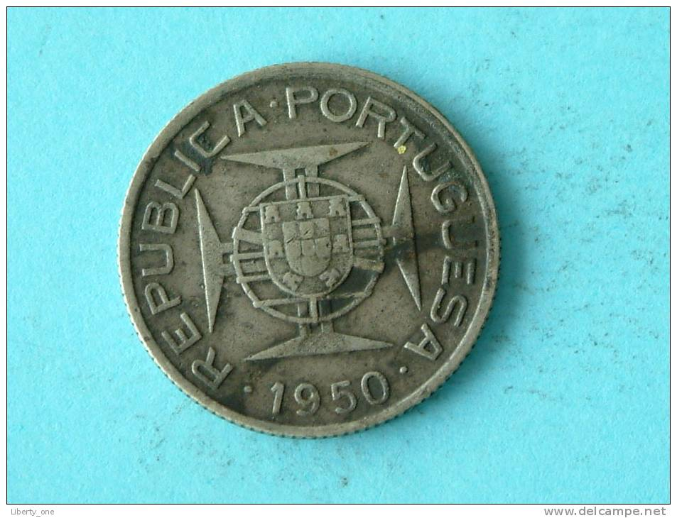 1950 - 2 1/2 ESCUDOS / KM 68 ( Uncleaned - For Grade, Please See Photo ) !! - Mozambique