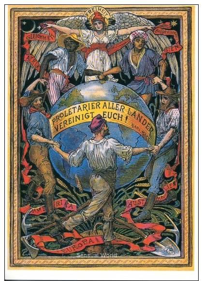 Freedom Walter Crane Karl Marx Globe World Art Postcard - 12583 - Peintures & Tableaux