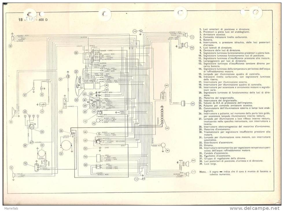 Schema Elettrico Fiat Seicento : Schema elettrico fiat d fare di una mosca
