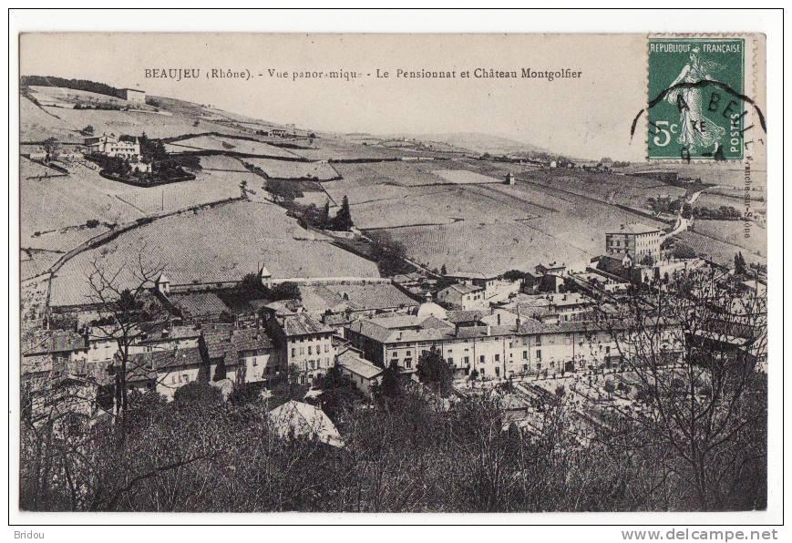 69  BEAUJEU   Le Pensionnat Et Château Montgolfier - Beaujeu