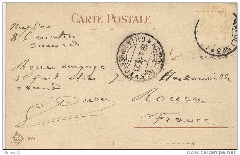 CPA-1923-ITALIE-NAPLES-PAQUEBOT   ARRIVANT A QUAI-BE RARE - Paquebots