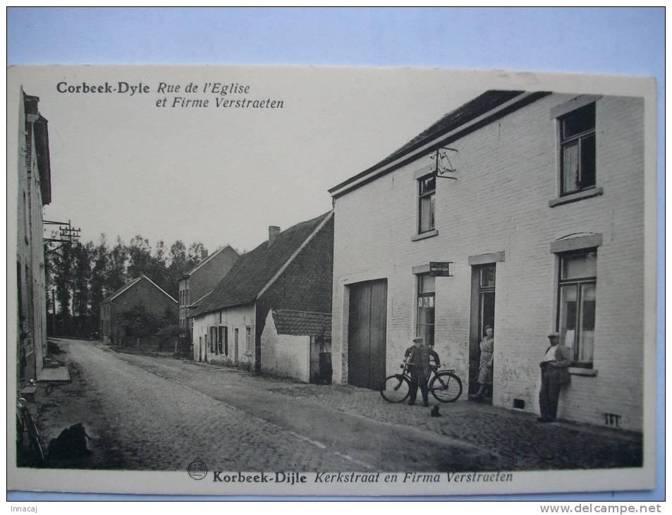 Réf: 56-3.  COORBEEK-DYLE  Rue De L'Eglise Et Firme Verstraeten - KORBEEK-DIJLE  Kerkstraat En Firma Verstraeten - Bertem
