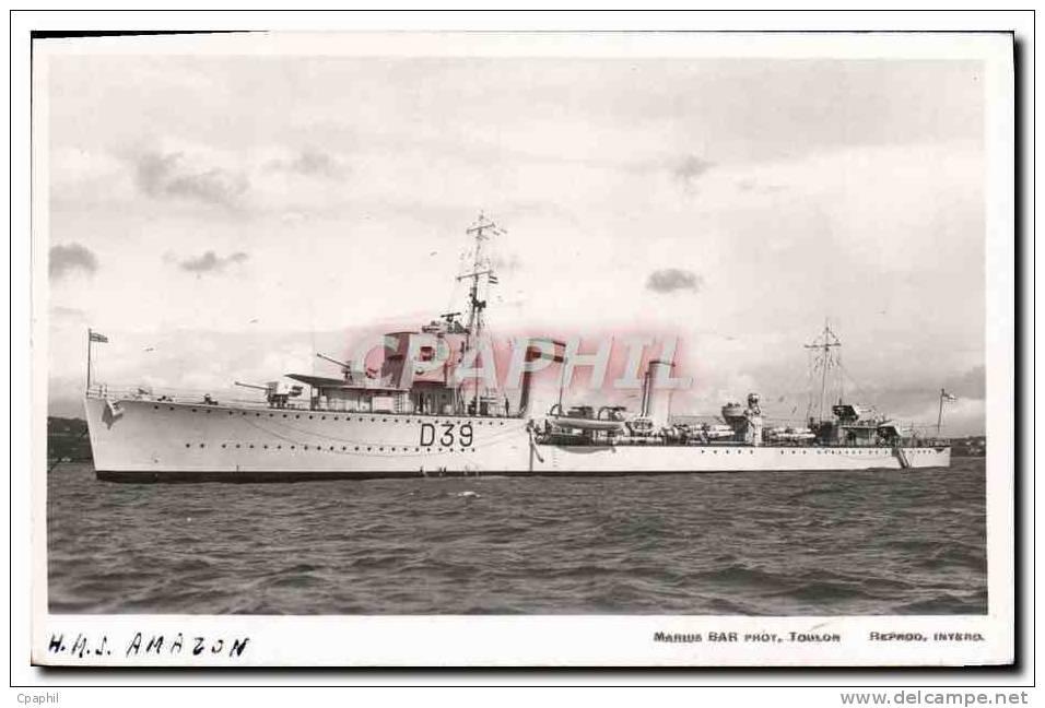CPA Bateau HMS Amazon - Warships