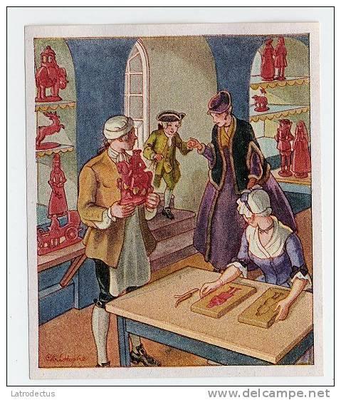 Deutsche Kultur-Bilder (1934) - 148 (1730-1760) - Lebzelter Und Wachszieher, Gingerbread And Wax Remover - Cigarettes