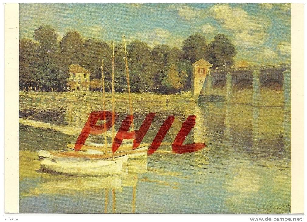 """Claude Monet -""""Le Pont D´Argenteuil"""", 1874 - Musée Du Louvre, Galerie Du Jeu De Paume, Ref 1108-1353 - Paintings"""
