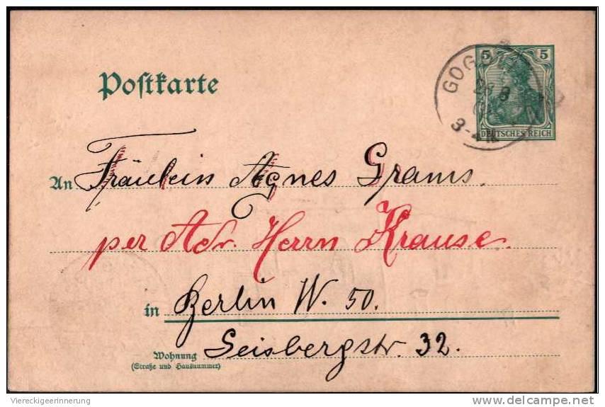 - Seltene Handgemalte Postkarte, Ganzsache Aus Peterhof Bei Bromberg, Poststation Gogolinke ( Kreis Crone A.d. Brahe ) - Poland