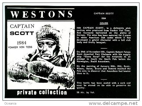 Captain Scott Of The Antarctic Wine Label 1984 - Labels