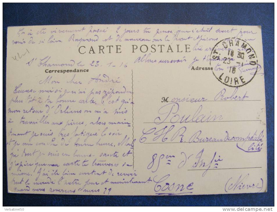 CPA....MASSIF DU MONT PILAT..LE GRAND HOTEL  STATION CLIMATIQUE..1916....RECTO VERSO - Mont Pilat