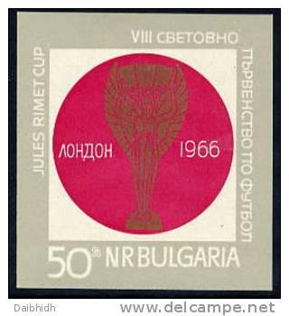 BULGARIA 1966 Football World Cup Block MNH / **  Michel Block 18 - World Cup