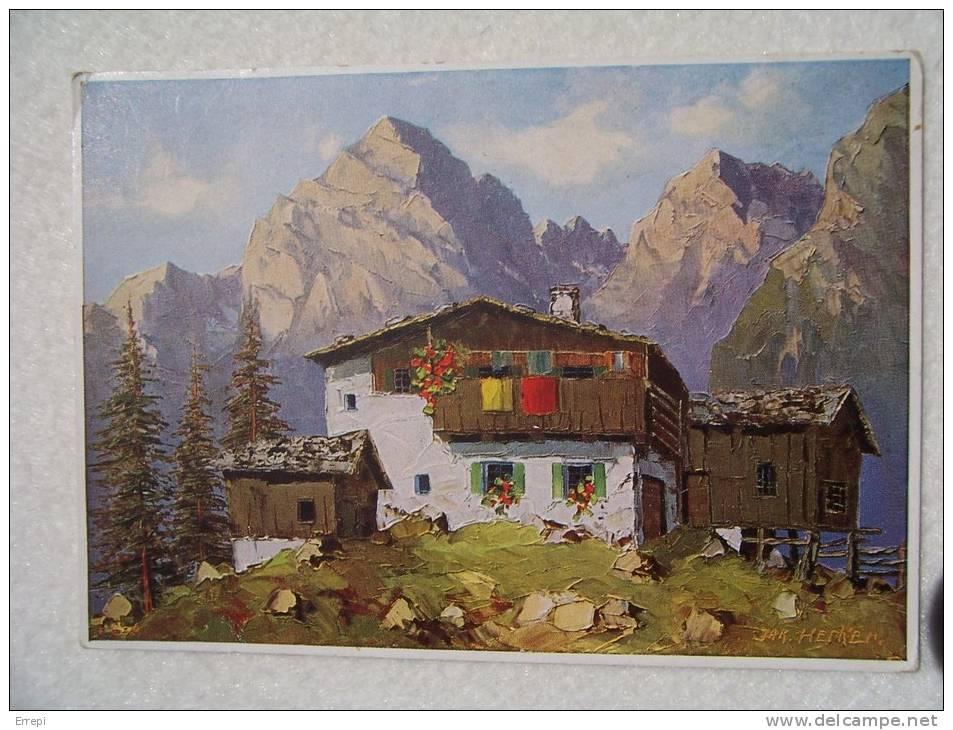 Dipinto Di Jak. Hecker - Paesaggio Alpino - 1966 - Pittura & Quadri