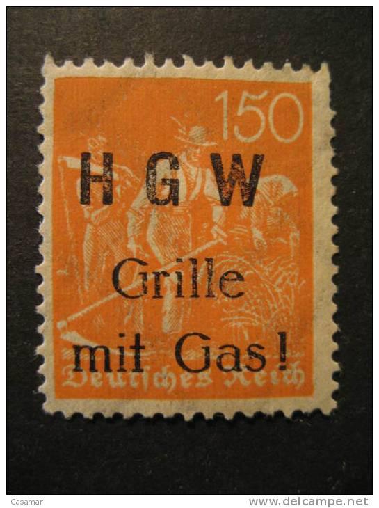 GERMANY Deutsches Reich H G W Advertise Overprinted Stamp Poster Stamp Label Vignette Viñeta - Germany