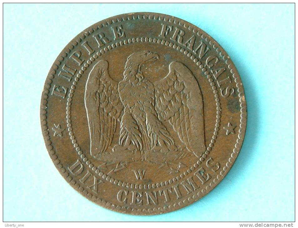 1854 W - DIX CENTIMES / KM 771.7 ( For Grade, Please See Photo ) ! - D. 10 Centimes