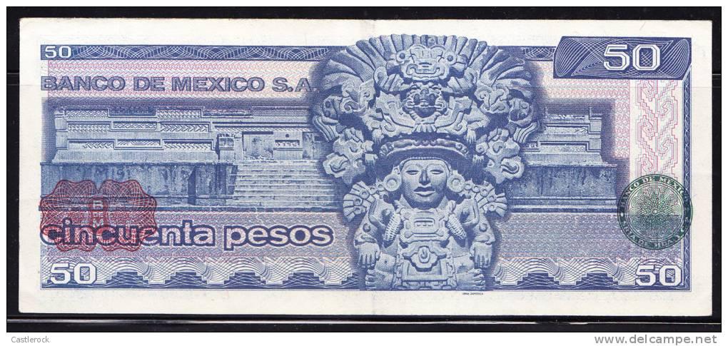 T)BANKNOTE,MEXICO $ 50 PESOS JUAREZ JAN 27, 1981 UNC - Mexico