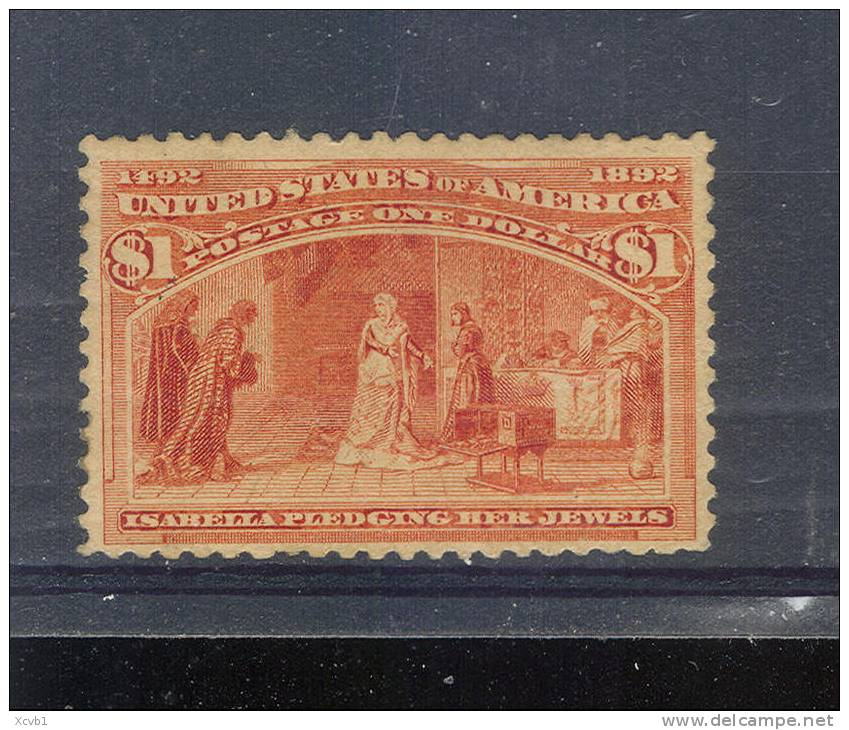 # United States   241, Mint, Og, Rare, Sound    (us241-2, [16-BNML - 1847-99 General Issues