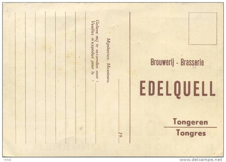Tongeren : Brouwerij - Brasserie  '  EDELQUELL  '     ( Groot Formaat ) - Tongeren