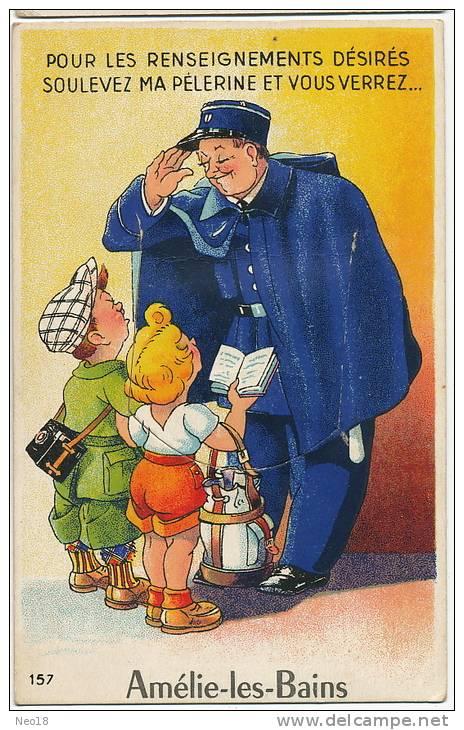 Amelie Les Bains Carte Systeme Petit Depliant 10 Vues Facteur No 157Artaud Edit. Timbrée 1958 - France