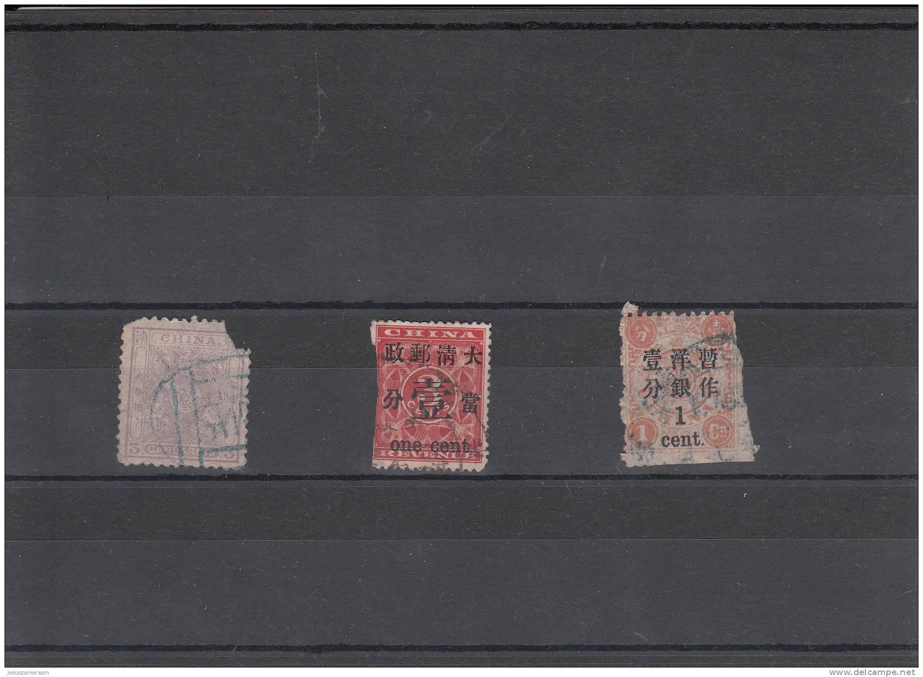 A Nº 1136 China 3 Sellos Con DEFECTOS - Usati