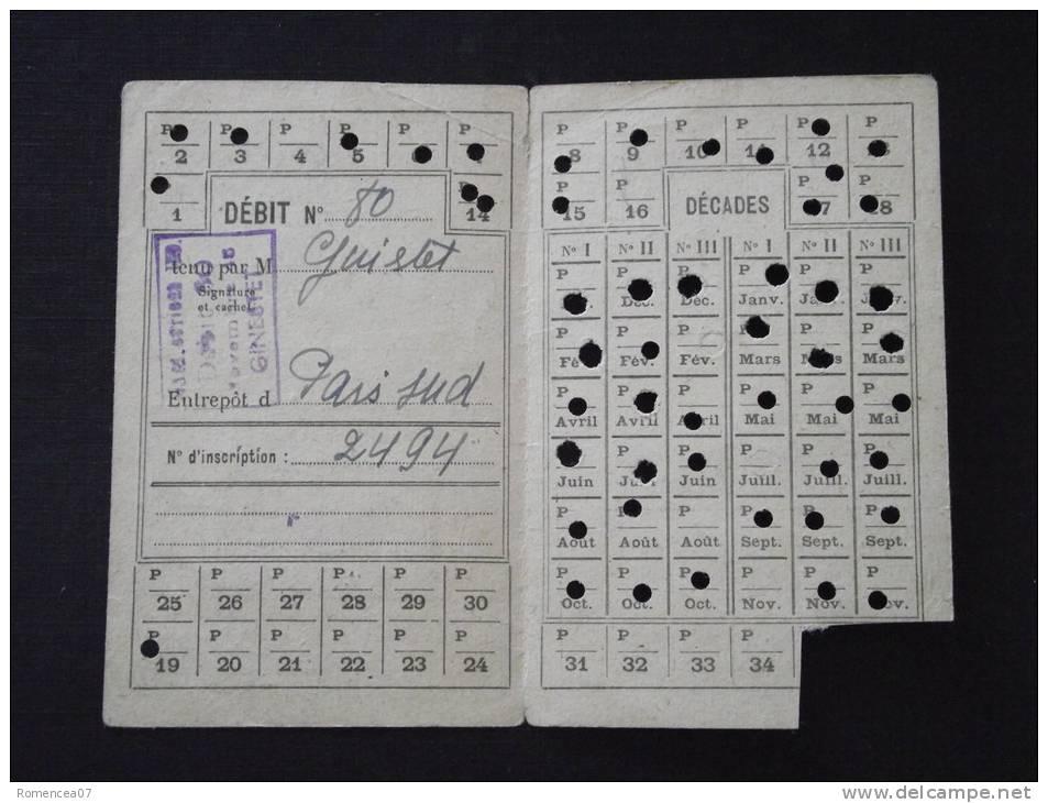 CARTE De TABAC - Délivrée à M. , Fontenay-aux-Roses - Ministère Des Finances - Novembre 1946 - Bon état - A Voir ! - Documents