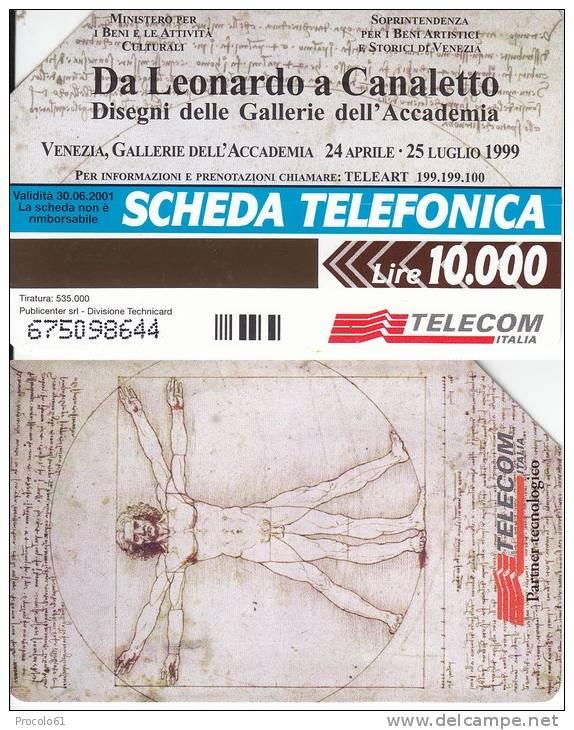 GOLDEN 979 DA LEONARDO A CANALETTO   Us. Tir. 535.000 - Pubbliche Pubblicitarie